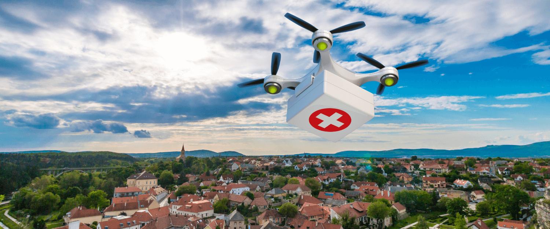 Drony duručujú defibrilátory